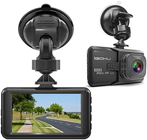 iGOKU Dash Cam for Cars Driving Recorder 1080P FHD Dashboard Camera 3.0inch LCD Screen 170° Wide Angle Front Loop Recording with Built-in G-Sensor,WDR,Night Vision,Motion Detection,Parking Monitoring
