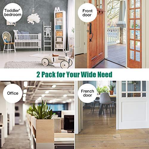 Door Stopper,2 Pack Magnetic Door Stops, Stainless Steel Door Catch, No Need to Drill - 3M Double-Sided Adhesive Tape, Keep Your Door Open, Door Stopper from Heleman Photo #6