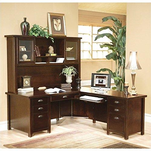 Martin Tribeca Loft Cherry RHF L-Shaped Executive Desk with Hutch