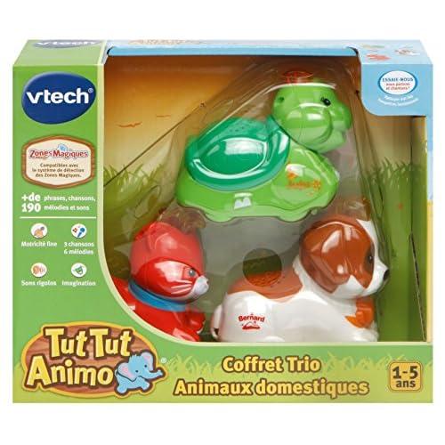 VTech - Tut Animo - Coffret Trio Domestique - Chat + Tortue + Chiot Montagnard, 242875
