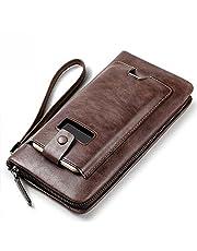 محفظة يد بنية للجنسين من زوليدايشو