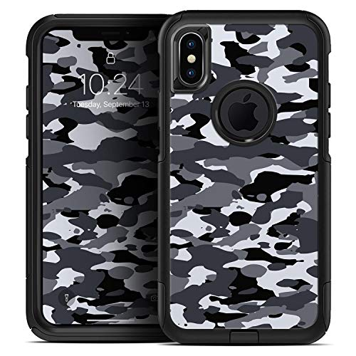 Traditional Black & White Camo - Skin Decal Kit for The iPhone 6 or iPhone 6s OtterBox Commuter Case