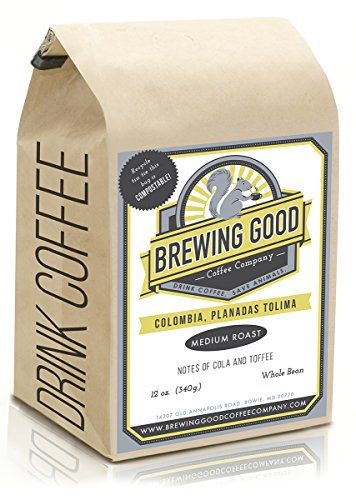 Whole Bean Organic Medium-light Roast, Colombia Santander Arabica Coffee, Fair Trade Small Batch Coffee for a Cause