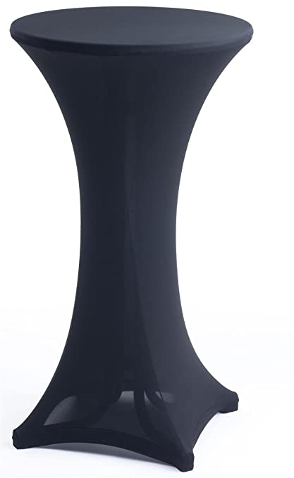 Ordinaire Displays2go 23.5u0026quot; D Round Pub Table With Fitted Cloth, Folding Design,  Steel And