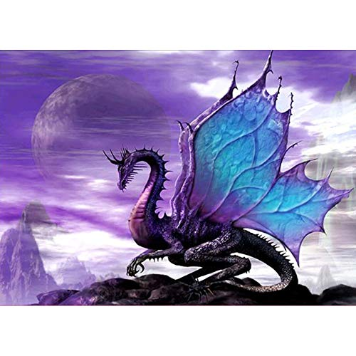 Franterd DIY 5D Diamond Painting Increase Family Fun Relationship Dragon Picture Embroidery Rhinestone Pasted Cross Stitch Handcraft