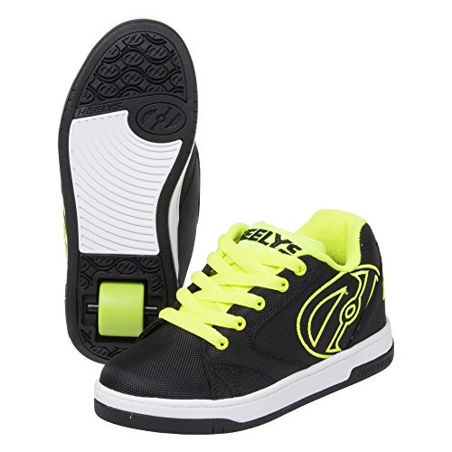 Heelys Boys' Propel 2.0 Sneaker, Black/Bright Yellow, 3 M US Little Kid ()