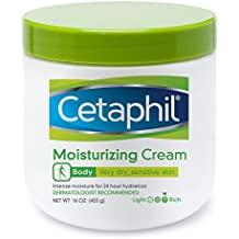 Cetaphil Moisturizing Cream for Very Dry/Sensitive Skin, Fragrance Free, 16 Ounce, 3 Count