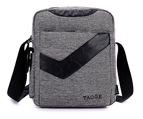 KISS GOLD(TM) Leisure Flax Cross Body Single Shoulder Messager Bag Satchel Bag (Grey)