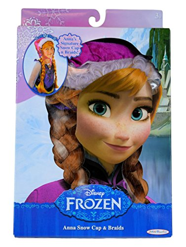 Anna Costumes Disney (Disney Frozen Anna's Snow Cap and Braids)