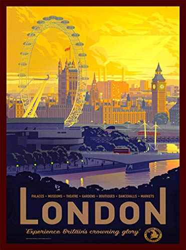 - A SLICE IN TIME London England Great Britain's Crowning Glory Vintage Travel Wall Decor Home Collectible Advertisement Art Poster Print. 10 x 13.5 inches