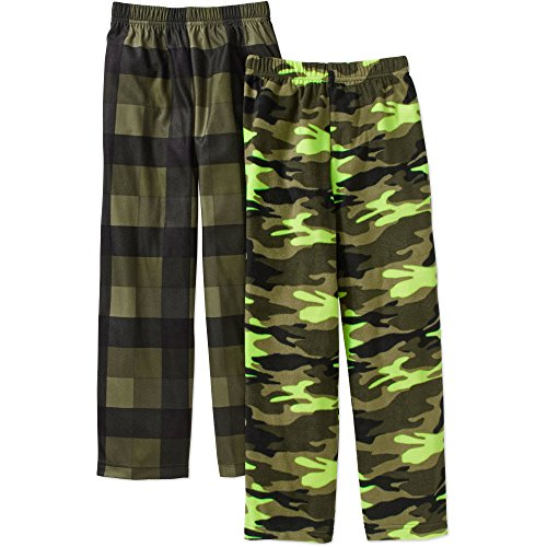 Faded Glory Boys Micro Fleece 2 Pack Pajama Pants (X-Large 14/16, Green) (Sleep Fleece Boys Pant)