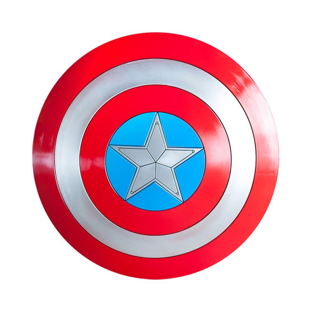 ZYER Enfants Marvel Captain America Shield - Modèle de Bouclier 1: 1, Modèle d'arme Cos et Décoration Murale,avec Boucle de Poignet