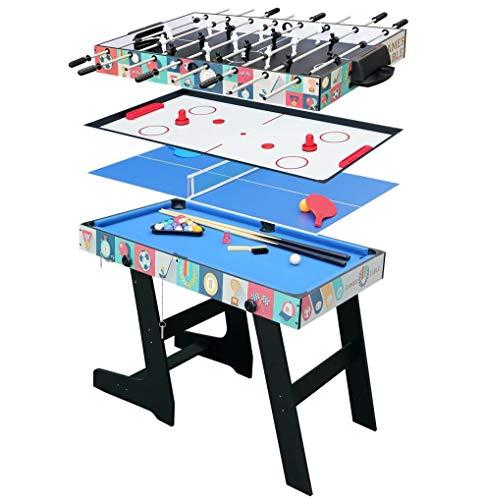 HLC 4in1テーブルゲーム テーブルサッカー、卓球、ホッケー、ビリヤードおもちゃ 家族楽しみゲーム