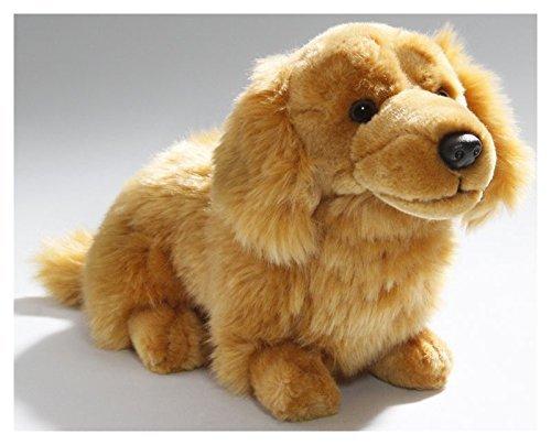 (Carl Dick Dachshund Dog Brown Sitting 11 inches, 26cm, Plush Toy, Soft Toy, Stuffed Animal)