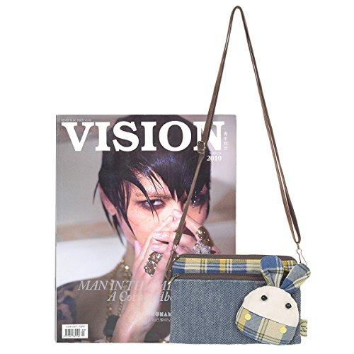 Blue Wallet Denim Purse Gift Shiaili Crossbody Girl Small wqBUCB