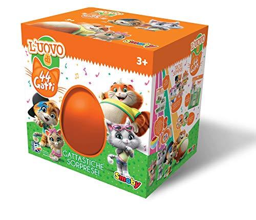 Smoby-7106600079 – Huevo de los 44 Gatos, Color Naranja, 7106600079