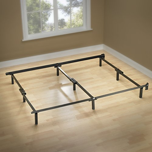 Support Bed Frame, for Box Spring & Mattress Set, King (Four Steel Frame)