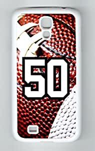 Football Sports Fan Player Number 50 White Plastic Decorative Samsung Galaxy S4 Case