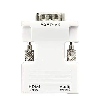 VGA con audio a HDMI (viejo ordenador con HDMI al nuevo televisor / monitor)