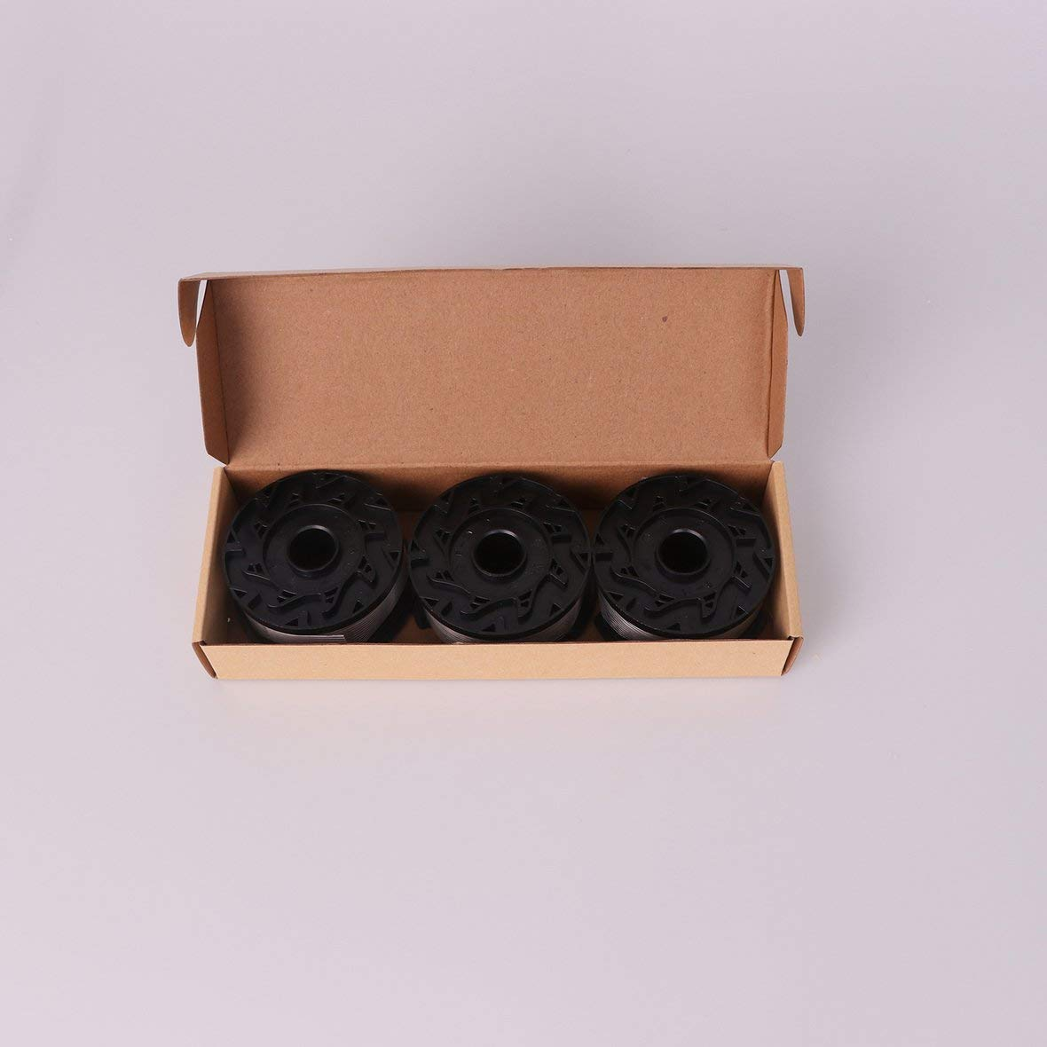 Decker Ligne portative durable de ligne de trimmer de bobine dutilisation de rechange appropri/ée /à la ligne dherbe en nylon de bobine de Black noir et blanc