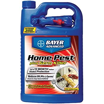 Bayer Advanced 700480 Home Pest Plus Germ Killer Indoor and Outdoor Insect Killer Ready-To-Use, 1-Gallon