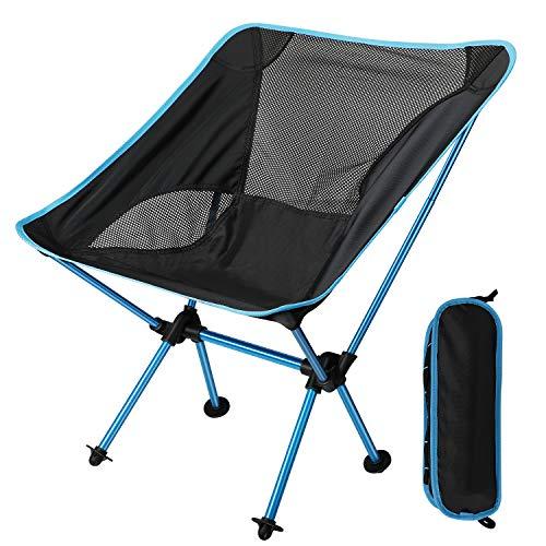 EXTSUD Outdoor opvouwbare stoel, draagbare campingstoel, draagbare opvouwbare aluminium camping reisstoel vissen…