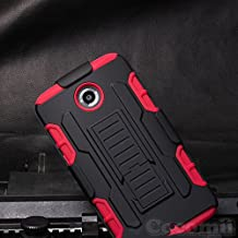 Motorola Nexus 6 Case, Cocomii Robot Armor NEW [Heavy Duty] Premium Belt Clip Holster Kickstand Shockproof Hard Bumper Shell [Military Defender] Full Body Dual Layer Rugged Cover Google (Red)