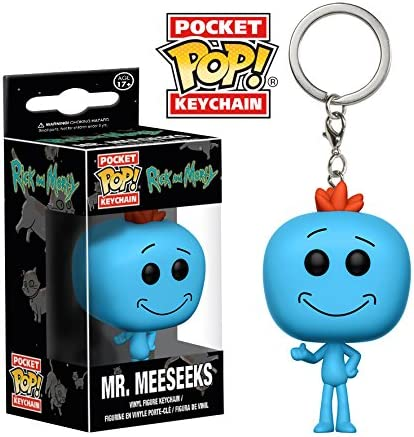 Rick and Morty porte-clés caoutchouc Mr Meeseeks 4,5 cm keychain 38723C