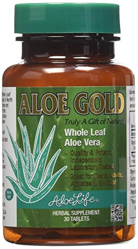 Aloe Vera 30 Tablets (Aloe Life Gold Tablets, 30 Count)