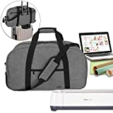 Luxja Carrying Bag for Cricut Machine, Laptop and Accessories, Storage Bag Compatible with Cricut Explore Air (Air2) and Maker (Bag Only), Gray