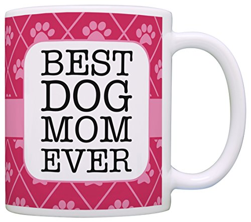 Dog Gifts for Women Best Dog Mom Ever Dog Lover Gifts for Women Dog Gifts for Girls Dog Coffee Mug Gift Coffee Mug Tea Cup Pink