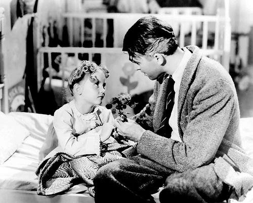 It's a Wonderful Life Featuring James Stewart with daughter Karolyn Grimes as Zuzu 8x10 Promotional Photograph