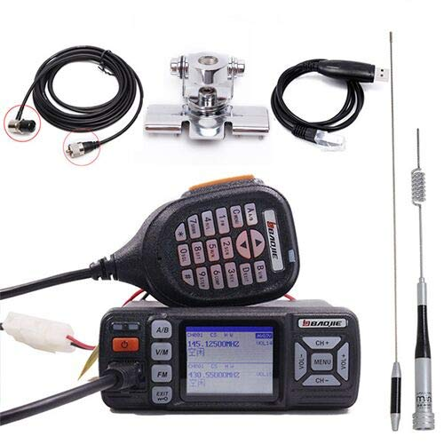 Baojie BJ-318 VHF UHF Dual Band Single/Dual Receive Mobile Radio 25W Car Mobile Radio Upgrade of BJ-218
