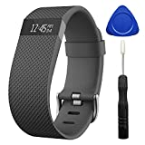 Zerofire For Fitbit Charge HR, Replacement Accessories Strap for Fitbit Charge HR/Charge HR/Fitbit Charge HR Accessories/Fitbit Charge HR 1/Charge HR Fitbit, Large,Black