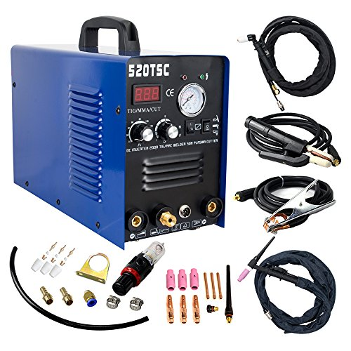 Plasma Cutter 3 in 1 50A Cutter 200A TIG/MMA Welding Machine With  Consumables (520TSC)