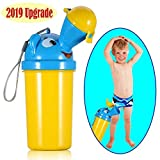 [2019 Upgrade Version] BOOGO Portable Baby Child Kids Travel Potty Hygienic Leak Proof Urinal Emergency Toilet for Camping Car Travel and Kid Toddler Potty Pee Training,Cute Duck Design (boy)