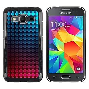 TopCaseStore / la caja del caucho duro de la cubierta de protección de la piel - Dot Vibrant Teal Pink Bubbles - Samsung Galaxy Core Prime SM-G360