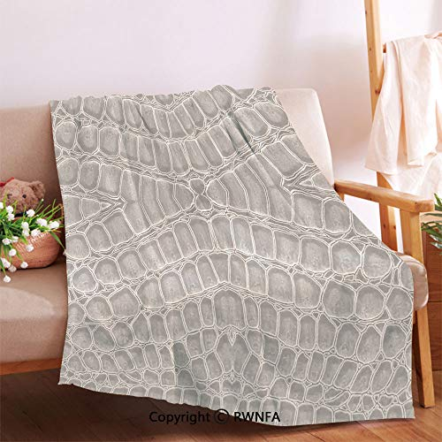 RWNFA Crocodile Leather Pattern Material Fashion Forward Design Print Plush Throw Blanket.Anti-Wrinkle Function, Suitable for Living Room Sofa(32
