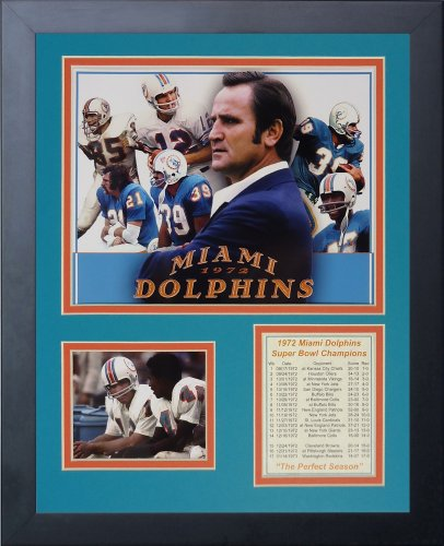 Legends Never Die 1972 Miami Dolphins Framed Photo Collage, 11x14-Inch