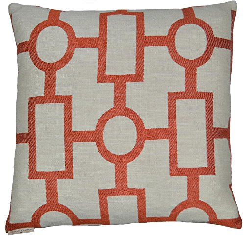 Van Ness Studio Ellington Decorative Throw Pillow, Orange (Canaan Company Pillow compare prices)