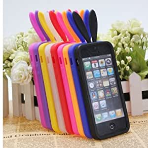 Cute Rabito Bunny Rabbit Soft TPU Back Skin Cover Case For iPhone5 @ Color==Orange