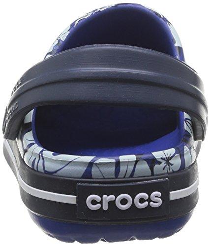 Para Goma uv Cpnk navy Crocs Zuecos 7 Blu Blue Cbtrpclprntclgk De C6 Niño cerulean nq08FBwfFx