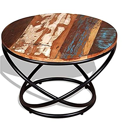 Superb Amazon Com Chunlan Coffee Table Side Sofa Rustic Round Gmtry Best Dining Table And Chair Ideas Images Gmtryco