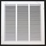 18 x 18 RETURN FILTER GRILLE - Easy Air FLow - Flat Stamped Face by Grills & Registers