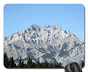 Canadian Rockies 19 Mouse Pad, Mousepad (Mountains Mouse Pad, Watercolor style) by icecream design