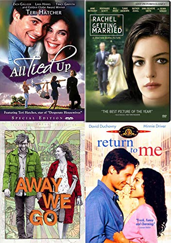 Entangling Relationships 4 Movie Pack Away We Go / All Tied Up / Rachel Getting Married & Return to Me Film Comedy Romance