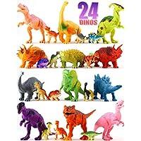 24 Dinosaur Toys - Colorful Educational Set Of 12 Large...