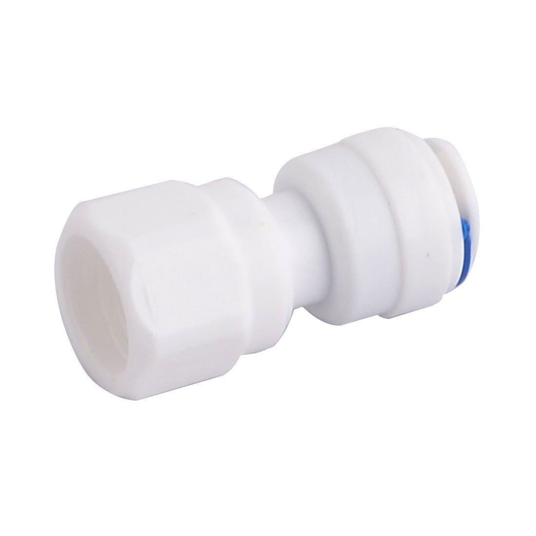 Amazon.com: DealMux Plastic Purificador de Água Adaptador de montagem Conector Branco Azul Tópico Dia 1 / 4BSP: Kitchen & Dining