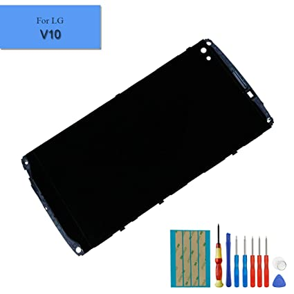 for LG V10 H960A, H900, H901, VS990 Touch Screen Display LCD Assembly  Digitizer with Frame + Tools