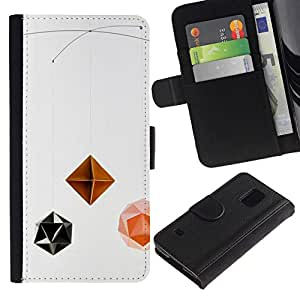 All Phone Most Case / Oferta Especial Cáscara Funda de cuero Monedero Cubierta de proteccion Caso / Wallet Case for Samsung Galaxy S5 V SM-G900 // Children'S Baby Toy Polygon